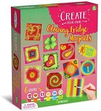 Brain Giggles Glow Fridge Tile Art and Craft Activity Kit - Glow in The Dark