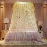 DEALS FOR LESS  - Elegant Bed Canopy Net Large Size- Yellow