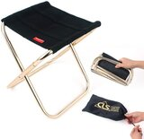 Folding Camp Stool, Lightweight Camping Stool, Mini Size Portable Foldable Chair