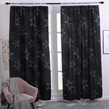 Deals For Less - Window Curtains, Star Design, Double Layer Set Of 2 Pieces.