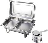Chafing Dish Professional Set, 2X Stainless Steel Holding Tank, Heat Tank, Chafing Dishes, Food Warmer, For Catering, Buffets, And Party