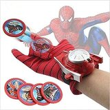 Ultimate Spider-Man Gloves Frisbees Disc Launcher Kids Toy For Ages 4+
