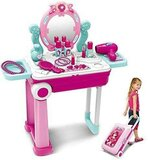Makeup Toy Set, Beauty Princess Dressing Table and Suitcase 2 in 1 For Ages 3+