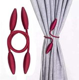Deals For Less -2 Pieces Curtain Holder Tieback, Maroon Color.