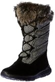 Skechers On The Go 400 Glacial Womens Mid Calf Winter Boots Black/Natural 7M US
