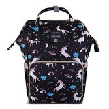Unicorn Diaper Bag Backpack, Women Waterproof Travel Nappy Bag for Baby Care