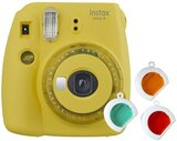 Fujifilm Instax Mini 9 Instant Camera, with 60mm f/12.7 Lens, with Clear Accents, Yellow