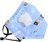 Kids Anti Pollution Cover With Activated Carbon N-95 Filters Dust  (Blue)