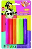 Kiddy Clay KC-ST-100-6N Neon Modeling Clay - 6 Pieces