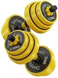 Marshal Fitness Dumbbell Barbell Weight Set, Adjustable Mute Weight Training Set For Sports Strength Training Mf-0601-20 Kgs