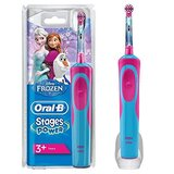 Oral B Stages Power Frozen Rechargeable Electric Toothbrush Blue/Red