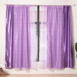Deals For Less Modern Drape Tulle,  Double Layer Window Curtains Set Of 2 Pieces, Purple Color
