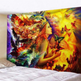 DEALS FOR LESS - Wall Tapestry Home Decor, Lady with Butterfly Design.