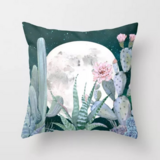 Deals For Less - Night Kalanchoe With Pink Flower Design Cushion Cover.