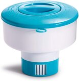 Intex 29041EP, 7-Inch Floating Chemical Dispenser for Pools, White/Blue