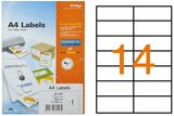 Formtec Labels 105x42mm 14 Labels Per Sheet FT-GS-1114