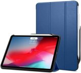 Spigen Smart Fold 2 With Built In Pencil Holder With Charging Designed For Apple Ipad Pro 11 Inch Case/Cover (2018) - Blue