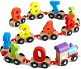 Brain Giggles Wooden Number Train Educational Toy