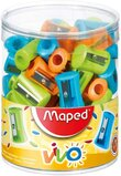 Maped One Hole Vivo Pencil Sharpener (Box of 75 in Assorted Colours)