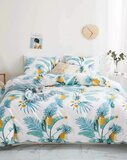 DEALS FOR LESS  - King Size, Duvet Cover , Bedding Set of 6 Pieces, Pineapple  Design