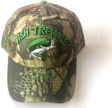 Cap Camouflage Fishing Embroidery Design '' Fish Tremble At The Sound Of My Name''