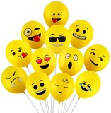 Brain Giggles 25 Pcs Printed Smiley Balloons