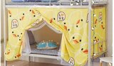 DEALS FOR LESS - Lower Deck Single Bed, Privacy Bed Tent with Mosquito Net, Yellow Duck Design