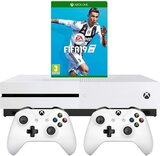 Microsoft Xbox One S 1TB with FIFA 19 and Extra Controller Bundle - White