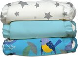 Charlie Banana 3 Diapers 6 Inserts Little Twitter II Print One Size Hybrid AIO
