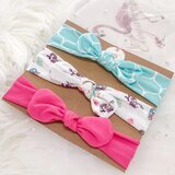 3 pcs Mother & Girls Headband Baby Newborn with All Printed Hairband Headband Stripe Candy Color Toddler and Children