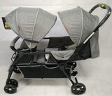 Twin Baby Stroller, Gray