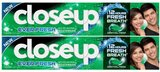 Close Up  Toothpaste Menthol Fresh, 120 ml (Twin Pack)