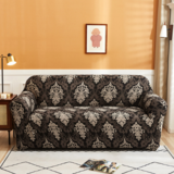 DEALS FOR LESS- 4 Seater Sofa Cover, Stretchable Couch Slipcoverm, Brown Bohemia Design.