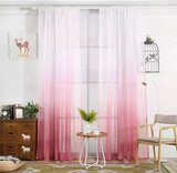 Deals For Less - Pink Color Ombre Sheer, Set Of 2 Pieces.