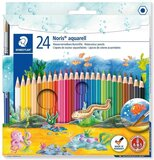 Staedtler Staedtler 144 10Nc24 Noris Club Aquarell Watercolour Pencils Plus Paint Brush, Assorted Colours, Pack Of 24