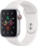 Apple Watch Series 5 (GPS + Cellular) Silver Aluminium Case With White Sport Band