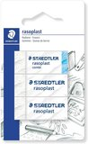 Staedtler 526-S BK3D eraser blister card with 2 pieces of rasoplast