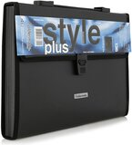 Foldermate Charcoal Black Expanding File Case With Handle