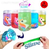 Brain Giggles 6 Pc Set Unicorn Theme Fluffy Slime