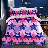 Brain Giggles 100% Cotton Little Star Theme Double Bed sheet and Pillow Case - Multi Color