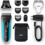 Braun Series 3 Shave and Style Electric Razor and Trimmer 3010BT - Blue/Black
