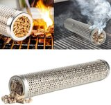 Stainless Steel Barbecue Pellet Smoker (round, 12 inch, 30cm)