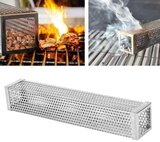 Stainless Steel Barbecue Pellet Smoker (square, 12 inch, 30cm)