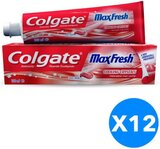 Colgate Max Fresh Spicy Toothpaste With Cooling Crystals - 100ml x 12