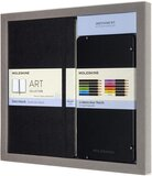 Moleskine 13 x 21 cm Drawing Kit Notebook for Sketches and 12 Watercolor Pencils in 12 Different Shades