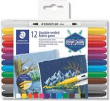Staedtler STAEDTLER Duo Tipped Fabric Marker 12 Pack