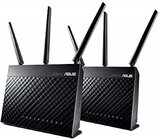 ASUS RT-AC68U (2-Pack) AiMesh AC1900 Whole Home Dual-band AiMesh Mesh Wifi System, AiProtection Lifetime Security by Trend Micro, Adaptive QoS, Parental Control, 2.4 GHz / 5 GHz