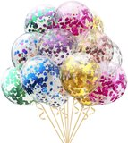 Brain Giggles Balloons With Multi Colored Pre-Filled Confetti (Set Of 10)