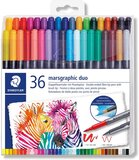 Staedtler Staedtler 3001 Tb36 Double Ended Watercolour Brush Pens, Assorted Colour, Pack Of 36