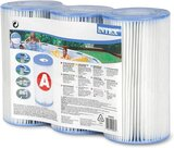 Intex Swimming Pool Easy Set Type A Replacement Filter Pump Cartridge (3 Pack)